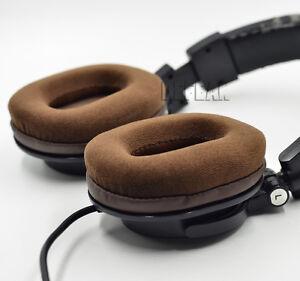Brown Velour Ear pads cushion for Audio technica ATH-M50 M50S M50X M40 M40S M40X