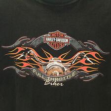 Harley-Davidson Full Throttle Biker Handle Bars Flames Killer Creek Roswell XXL