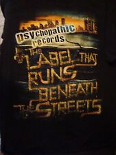 Awesome 2-Sided Psychopathic Records T-Shirt, Size Large, Great Shape! ICP
