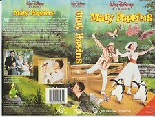 Vhs *MARY POPPINS*  Walt Disney Classics Issue - Julie Andrews & Dick Van Dyke!
