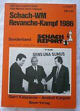 Schach - WM Revanche - Kampf 1986 Kasparow - Karpow