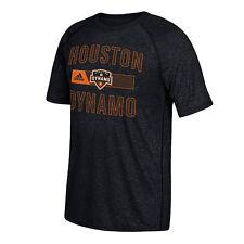 Adidas Men's Houston Dynamo Climalite Charcoal Short Sleeve T-shirt
