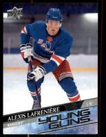 2020-21 UD Series 1 Base Young Guns #201 Alexis Lafreniere RC - New York Rangers