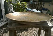 LARGE ANTIQUE CHINESE BRASS BOWL