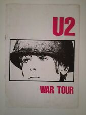 U2 - WAR TOUR 1983 UK BOOK - PROGRAM 1ST LEG