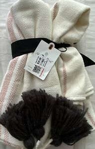 HEARTH AND HAND WITH MAGNOLIA PINK THROW BLANKET NEW WITH TAGS