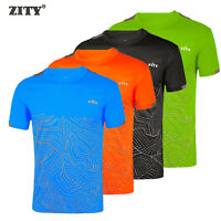 T shirt Men Printed Gym Sports Running Fitness Training Quick Dry Stretch Tops