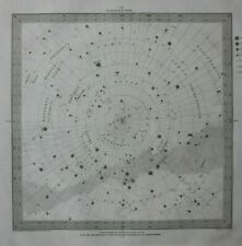 More details for original antique celestial map, s. hemisphere, stars, constellations, sduk, 1844