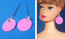 Dreamz PINK MOD DISC 1 Pair of Earrings Barbie Silkstone OOAK Doll Jewelry