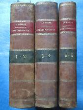 LAHARPE : CORRESPONDANCE LITTERAIRE EMPEREUR DE RUSSIE, 1804-1807. 3 volumes