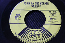 """BUCK OWENS """"Down On The Corner Of Love"""" & """"Sweethearts"""" 45rpm Starday Records"""