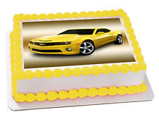 CAMARO CAR REAL EDIBLE ICING CAKE IMAGE PARTY TOPPER RECTANGLE FROSTING SHEET