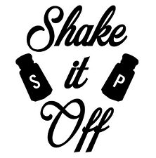 Shake It Off 11.5x9.75 Salt And Pepper Vinyl Wall Art Decal Removable Sticker