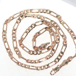 Cool Party Mens Figaro Chain Necklace Yellow Gold Filled Long Necklace 20 Inches