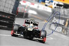 Romain Grosjean firmata 12x8 F1 LOTUS RENAULT E20, MONACO GRAND PRIX 2012