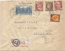 GANDON 3FR50X2+N°760+757+681 LETTRE REC PARIS 42 24.7.1947 AU TARIF