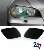 HEADLIGHT JET COVERS CAPS PAIR SET COMPATIBLE WITH BMW X5 SERIES E70 2006-2013