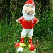 Garden Gnome ~ FOOTBALLER (COMMISSION PIECE) ~ Handmade by Pixieland (Concrete)