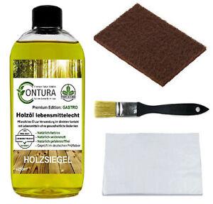 CONTURA Holzöl lebensmittelecht SET Holz Schneidbrett- Öl Pflegeöl Holzschutz