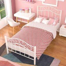 Twin XL Metal Bed Frame Platform w/ Headboard Footboard Bedroom Furniture White