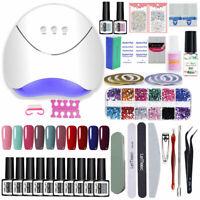 LEMOOC 10 Colors Gellack Kit Colorful Soak Off UV LED Lamp Nagel File Werkzeug
