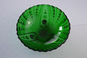 """Anchor Hocking Forest Green Oyster & Pearl Serving Bowl 8 1/2"""" Top Diameter"""