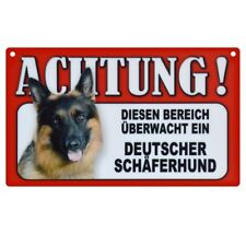 Warnschild Deutscher Schäferhund Hundeschild 20cm x 12cm hund schild innen tor