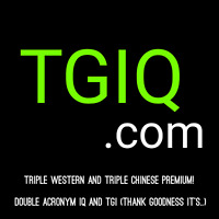 TGIQ.com Triple Western + Triple Chinese premium 4 Letter LLLL . com Domain Name