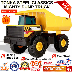 Tonka Metal Dump Truck Outdoor Kids Toy Construction Vehicle Sandpit Large NEW