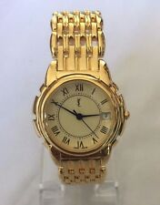 YSL YVES SAINT LAURENT Women's 23K Gold Plated Swiss Watch Y2022 Champagne Dial
