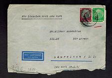1941 Herford Germany to Laurelton USA Censored Israel Cover Heinz Philippsohn