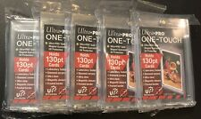 (5) Ultra Pro 130pt One Touch Magnetic Trading Card Holder UV Protection