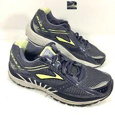 Women's BROOKS Running Shoes Dyad 7 Gray Yellow Sz 10.5 Wide EUC