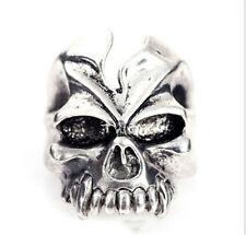 Hot sale Men's Woman 316L Stainless Steel Vogue Design Mini skull Ring Size 11