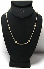 Nice Vintage AVON Gold Tone Knot Chain Necklace Secure Round Clasp Elegant