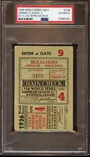 1936 World Series Ticket Stub GIants at New York Yankees Game 4 PSA Authentic
