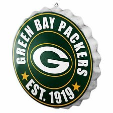 "Green Bay Packers Bottle Cap Sign - Est 1919 - Room Bar Decor NEW 13.5"""