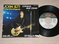 "JOAN JETT & THE BLACKHEARTS - CRIMSON AND CLOVER - 45 GIRI 7"" GERMANY"