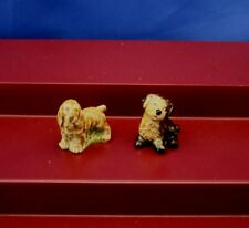 "Lot Of 2 Wade Whimsies ""Cocker Spaniel & Australian Shepherd Dog� Figurines"