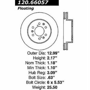 StopTech 127.66057R Sport Drilled & Slotted Brake Rotor For 07-20 GMC Yukon NEW