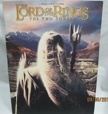 the lord of the rings - two towers piano vocal and chords song music book