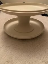 Vintage Tupperware Cake or Pie Stand 3 Pieces