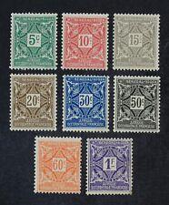 CKStamps: Upper Senegal & Niger Stamps Collection Scott#J8-J15 Mint H OG 2 Thin