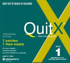 HOT DEAL! >> QUITX NICOTINE PATCH 21MG x 7 patches QUIT SMOKING Aid STEP 1