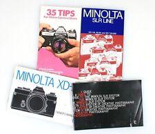 Minolta Brochures Set Of 4