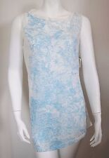 NWT Authentic JIL SANDER Blue White 100% Cotton Sleeveless T-Shirt Top M