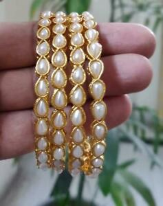 Bollywood Designer Gold Plated Indian Traditional Ethnic Fashion Pearl Bangles