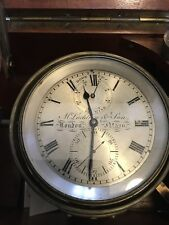 Antique McLachlan & Son 56 Hour Marine Ships Chronometer Working Gimbaled
