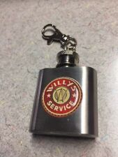 WILLYS SERVICE 1 OZ. FLASK KEY CHAIN FREE SHIPPING UNIQUE AND VERY CLASSY