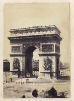 Arco Di Triomphe Da L Stella Parigi Francia Foto Vintage Albumina 1867